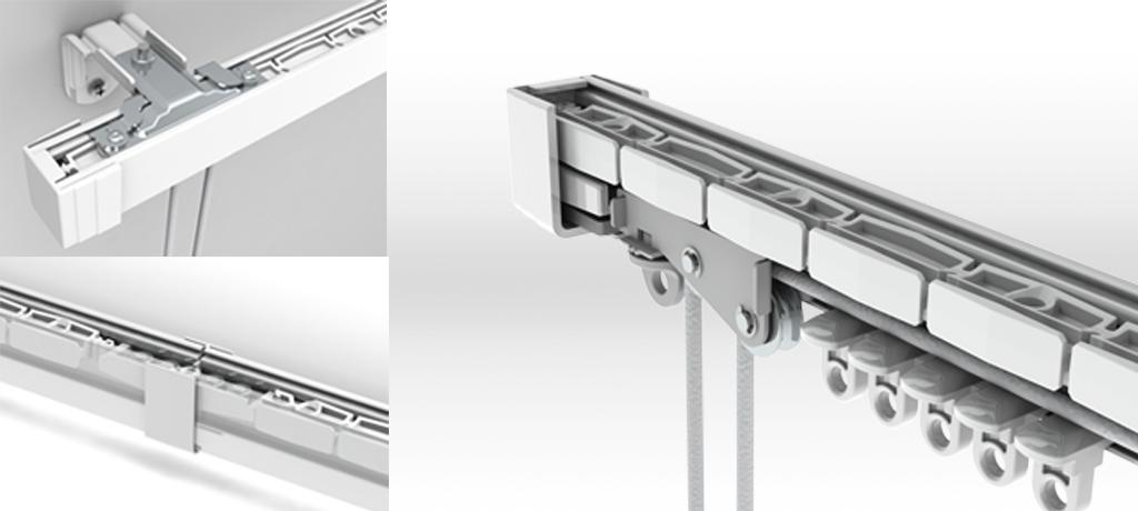 Curtain Rail Engineering Product Design Portfolio Example